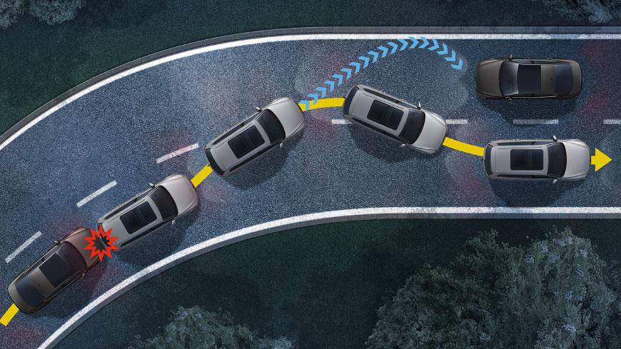 Multi collision braking